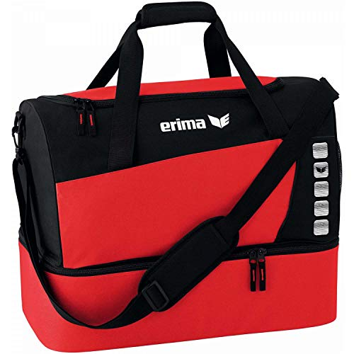 Erima Unisex's Spacious Sports Bag with Bottom Compartment-Red/Black, Small from Erima
