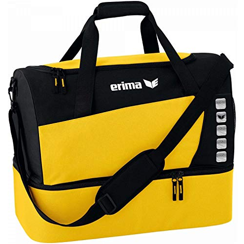 Erima Unisex's Spacious Sports Bag with Bottom Compartment-Yellow/Black, Small from Erima