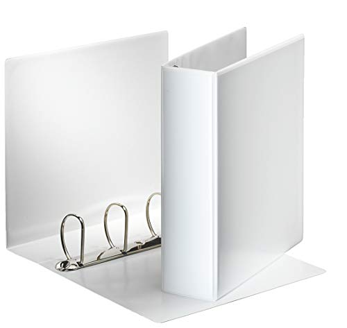 Esselte 49706 Essentials Presentation Binder, PP, 6 cm Ring Diameter, A4, White from Esselte
