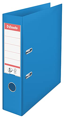 Esselte 624067 A4 75mm PVC Lever Arch File - Blue (Pack of 10) from Esselte