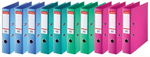 Esselte 624178 Ring Binders with Standard Spine 75 mm Pack of 10 Assorted Fashion from Esselte