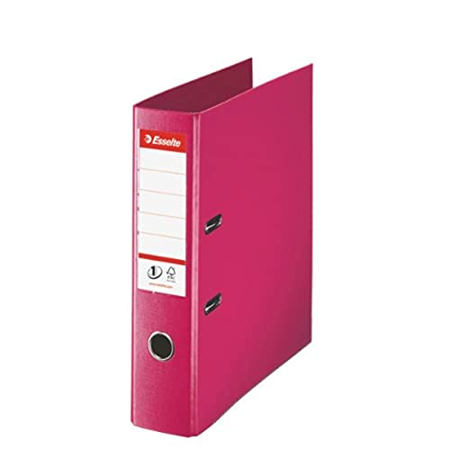 Esselte, Number 1 Power, A4, Lever Arch File, 75 mm Spine, 500 sheets Capacity, PP, Plastic Cover, File Folder, 811313, Fuchsia from Esselte