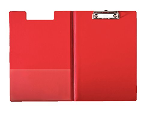 Esselte A4 Clipfolder with Cover, Rigid Plastic, Red from Esselte