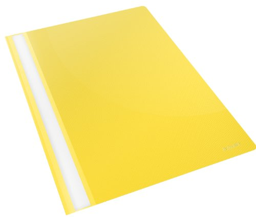 Esselte 28318 Report File, Format A4, Capacity up to 160 sheets (80 gr / sqm), Polypropylene, Giallo Vivida, Esselte A4 Plastic Report File from Esselte