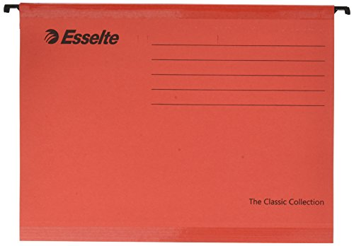 Esselte Classic Reinforced Suspension File, A4, Pack of 25, Tabs Included - Red from Esselte