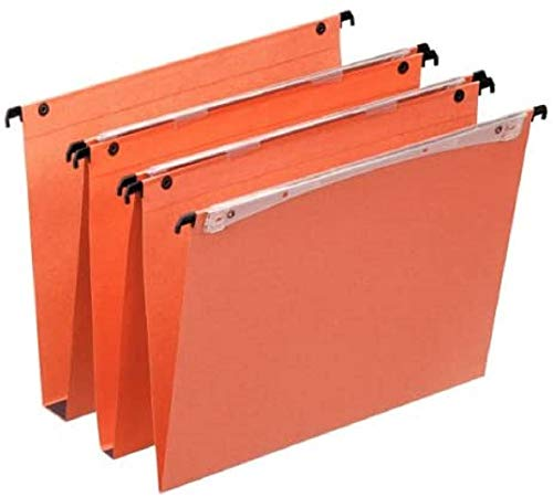 Esselte Vertical Hanging File, Multi-Folders, 15 mm background, A4, Pack of 25, Tabs included, Orange, Orgarex, 21632 from Esselte