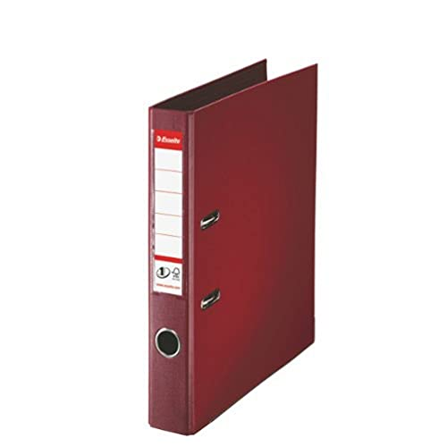 Esselte, Number 1 Power, A4, Lever Arch File, 50 mm Spine, 350 Sheets Capacity, PP, Plastic Cover, File Folder, 811520, Bordeaux from Esselte
