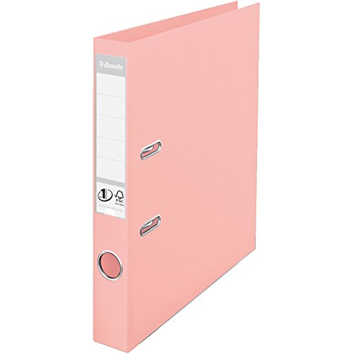 Esselte, Solea, A4, Lever Arch File, 50 mm Spine, 350 Sheets Capacity, PP, Plastic Cover, File Folder, 231044, Solea Peach from Esselte