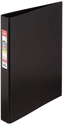 Esselte 4 Ring Binder, PP, Holds up to 190 Sheets, Vivida Range, 42 mm Spine, 14462 - A4, Black from Esselte