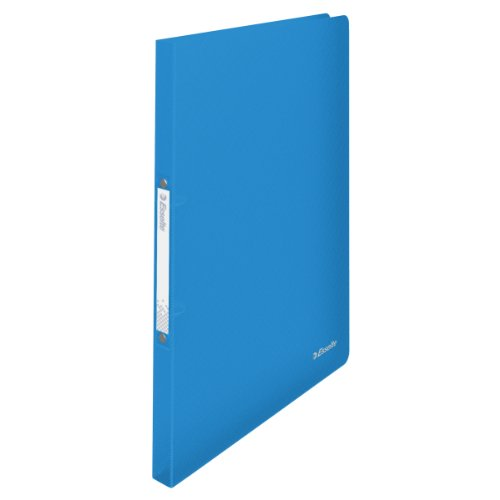 Esselte 2 Ring Binder, Holds up to 100 Sheets, Vivida Range, 16 mm Spine, 624031 - A4, Blue from Esselte