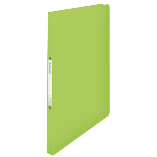 Esselte 2 Ring Binder, Holds up to 100 Sheets, Vivida Range, 16 mm Spine, 624035 - A4, Green from Esselte