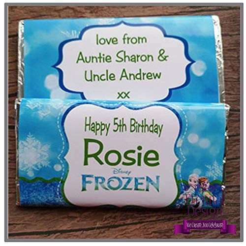 Eternal Design Personalised Kids Birthday Chocolate Bar Frozen Fever from Eternal Design