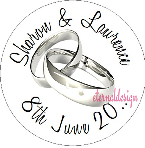 Eternal Design Personalised Wedding White Stickers WDCS 12 from Eternal Design