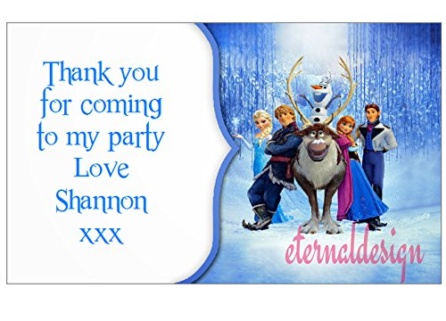 Eternal Design 21 x Personalised Kids Birthday Party Sticker Seals Favours.Frozen (2kidrs) from Eternal Design