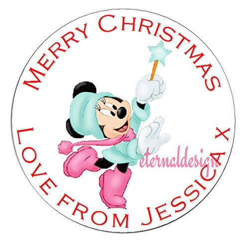 Eternal Design Personalised Glossy Christmas White Stickers XDCS 50 from Eternal Design