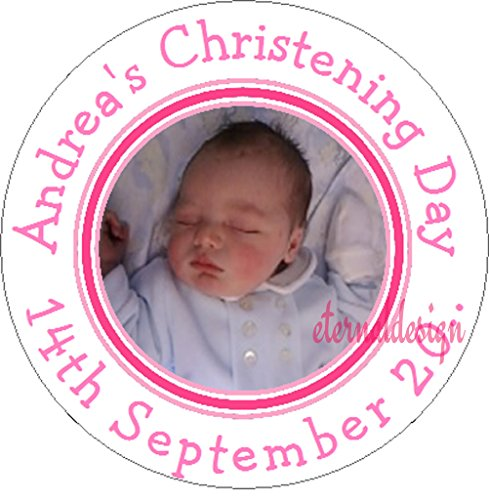 Eternal Design Personalised Glossy Personalised Photo White Stickers PPCS 2 from Eternal Design