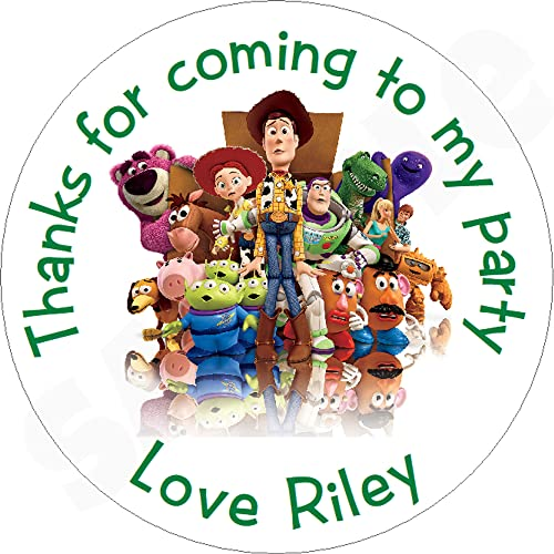 Pack of Toy Story Personalised Circle Stickers with Glossy Finish KBCS082 from Eternal Design