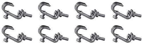 8 x Eurolite TH-16 16mm Truss Clamp Hook Clamp Lightbridge Light Bridge Rigging from Eurolite