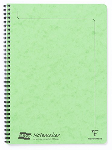 Clairefontaine Europa Notemaker A4 Lined Notebook, 120 Pages - Lime Green from Clairefontaine