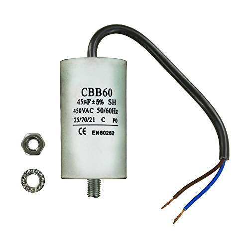 Europart 11-CA-45C Universal Capacitor with Cable Connectors, 21 cm from Europart