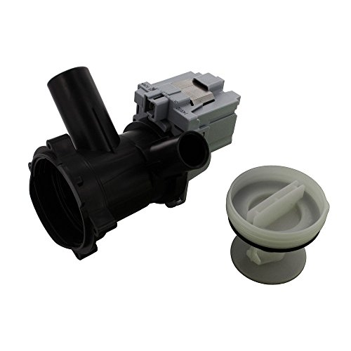 Europart Non Original Drain Pump Base and Filter Housing Assembly for Askoll Produced Bosch Maxx WFB/WFC/WFD/WFL/WFO/WFR/WVF Series/M50/RC0036, 230 V, 50 Hz, 0.22 A, 30 W, 155 cl from Europart