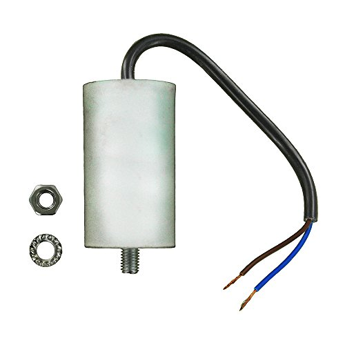 Europart Universal Capacitor with 19 cm Cable Connectors, 6 µF/6 MFD, 450 VAC from Europart