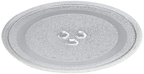 Universal Microwave Turntable Glass Plate with 3 Fixtures, 245 mm from Europart