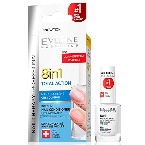 Eveline Cosmetics Therapy Total Action Nail Conditioner 8-in-1, 12 ml from Eveline Cosmetics