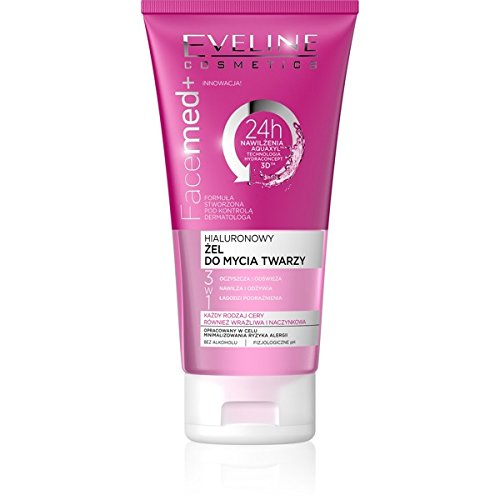 Eveline FaceMed+ 3-in-1 Hyaluronic Cleansing Gel with Allantoin 150ml from Eveline