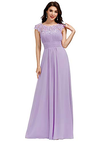 Ever Pretty Women's Cap Sleeve Formal Wedding Guest Dress Lavender 14 UK from Ever Pretty
