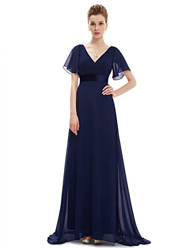Ever Pretty Women's Summer Wedding Party Dresses Evening, Navy Blue 1, 18 UK from Ever-Pretty