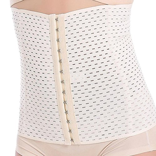 Everbellus Breathable Latex Corset Training Waist Cincher Women Beige X-Large from Everbellus