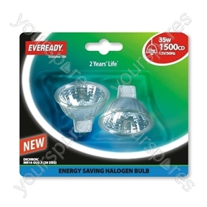 Eveready Es Mr16 (50w) 35w Gu5.3 Silver Blister Of 2 from Eveready