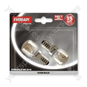 Eveready Oven Lamp 15w Ses Blx 2 from Eveready