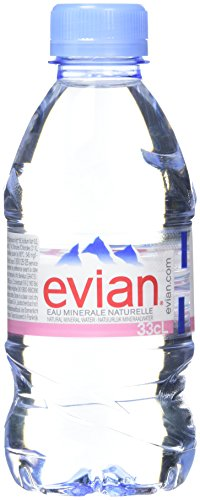 Evian Natural Mineral Water Bottles, 330ml ( pack of 24) from Evian