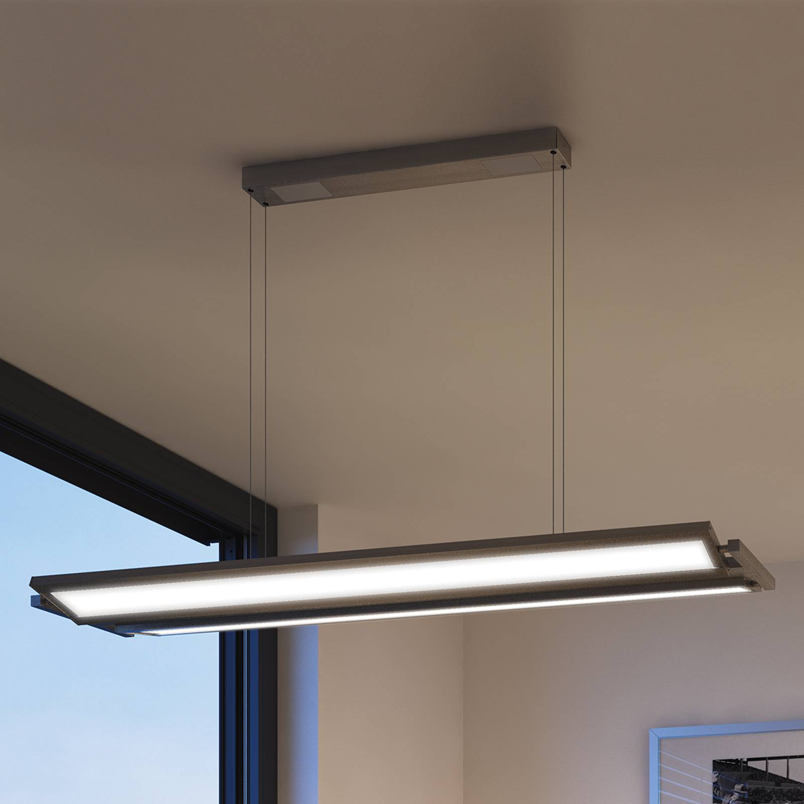 Classic TEC LED pendant light with colour control from Evotec