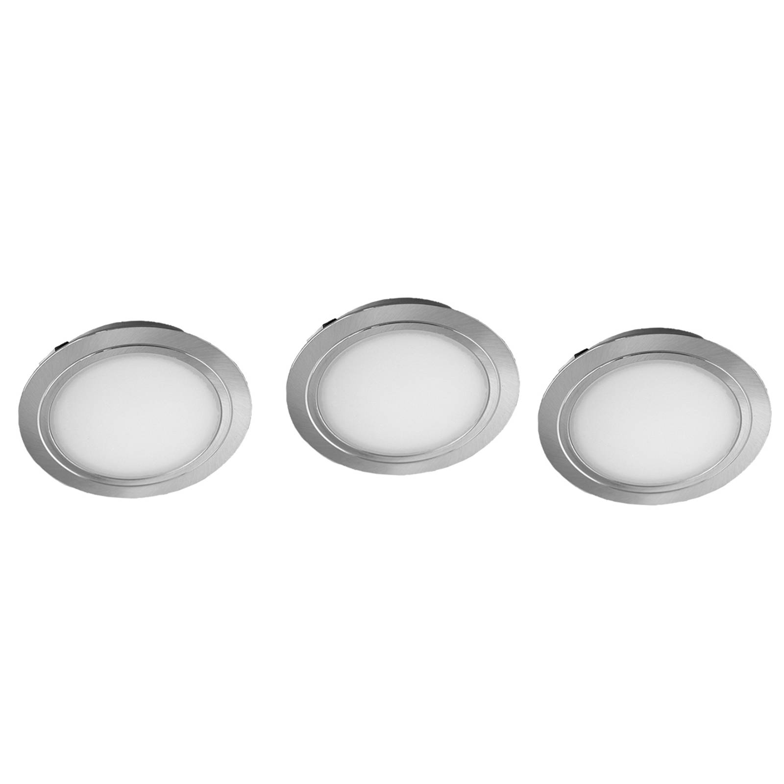 Cubic 68 CF LED recessed light, set of three from Evotec