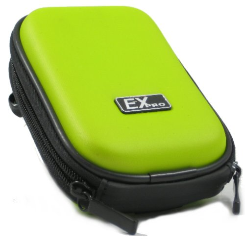Ex-Pro® Green Hard Clam Shock proof Digital Camera Case Bag CR299I for Vivitar ViviCam 5015, 5018, 5020, 5024, 5399, 7690, 8018, 8025, 8225, 8324, DVR510, T234, T328, X024, X327, X329 & More. from Ex-Pro