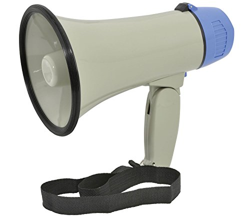 Ex-Pro® Handy Loud compact megaphone with built-in siren and adjustable volume from Ex-Pro