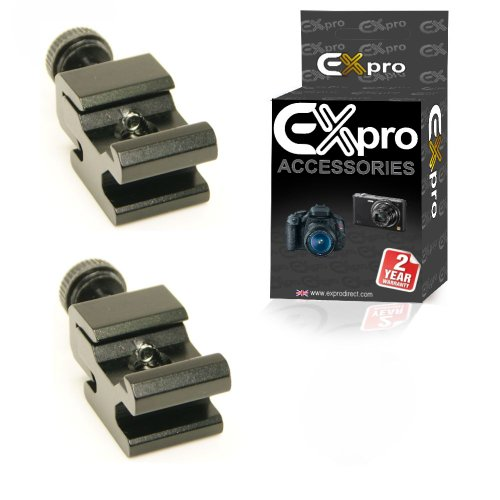 Ex-Pro Adjustable Hot Shoe Adapter with 1/4'' Screw Thread [2 Pack] from Ex-Pro