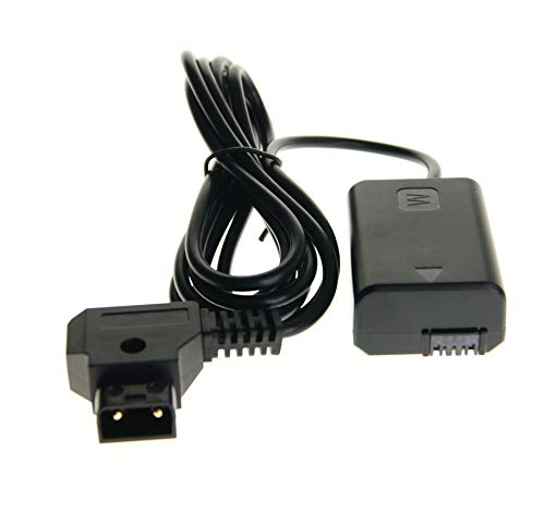 Ex-Pro D-Tap Dtap Power Type B 2 Pin Male to Sony AC-PW20 ACPW20 Power Supply Adapter Coupler for NP-FW50 Sony Alpha/NEX Cameras [See Description for Models] from Ex-Pro