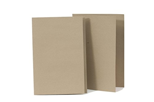 Exacompta Kraft liner Square Cut Folder, 170 gsm, Foolscap - Buff, Pack of 100 from Exacompta