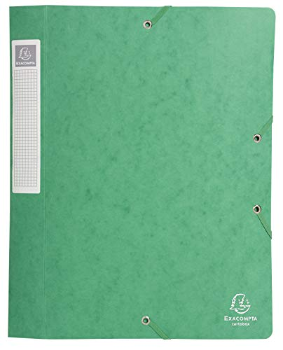 Exacompta - Ref. 14003H - Cartobox Glossy Card Filing Box, 40 mm Spine, A4 - Green from Exacompta