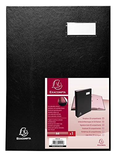 Exacompta Direction Signature Book, A4, 20 Compartments - Black from Exacompta