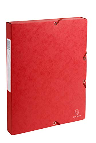 Exacompta Pressboard Filing Box, 600 gsm, 25 mm spine, A4 - Red from Exacompta