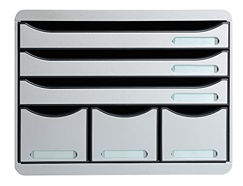 Exacompta Store-Box Office Plus, 6 Drawers - Light Grey from Exacompta