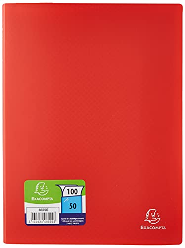 Exacompta Soft PP Display Book, A4, 50 pockets - Red from Exacompta