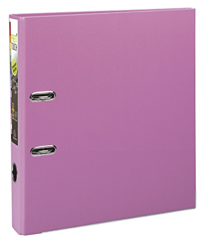 Exacompta Prem'Touch PP Lever Arch File, A4 maxi, 50 mm spine - Pink from Exacompta