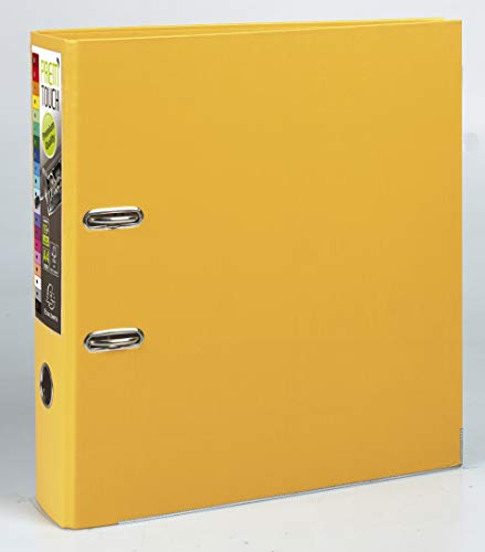 Exacompta Prem'Touch PP Lever Arch File, A4 maxi, 80 mm spine - Yellow from Exacompta