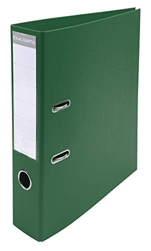 Exacompta Prem'Touch PVC Lever Arch File, 2 Ring, 70 mm spine, A4 - Dark Green from Exacompta